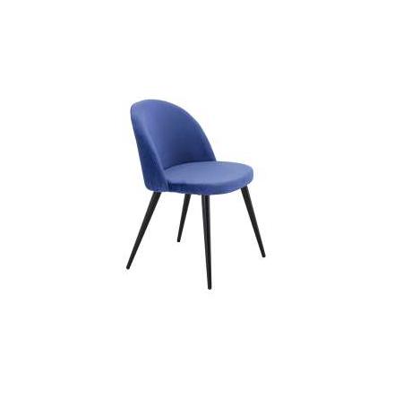 Velvet köksstol blå soffmannen